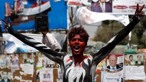 Junge während einer Anti-Saleh-Demonstration in Sanaa; Foto: dapd