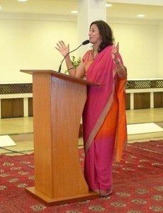Die indische Autorin Shobhaa De; Foto: Stefan Weidner