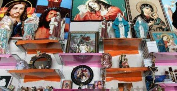 Koptische Devotionalien zum Verkauf in Alexandria; Foto: AP