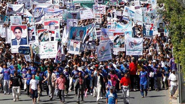 Protest gegen Salehs Immunität in den Straßen von Sanaa; Foto: Reuters