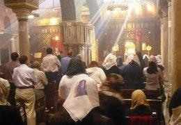Gottesdienst in Al-Muallaga, der wohl ältesten koptischen Kirche Kairos; Foto: DW