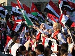 Protest gegen das Assad-Regime; Foto: AP/dapd