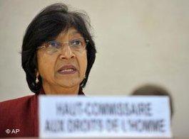 UN-Menschenrechtskommissarin Navi Pillay; Foto: AP