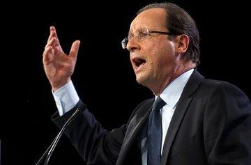 Der sozialistische Präsidentschaftskandidat François Hollande; Foto: dpa