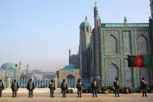 Sicherheitskräfte bewachen das Nouruz-Fest; Foto: Marian Brehmer