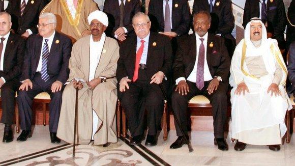 Gruppenbild Gipfel in Bagdad; Foto: dpa
