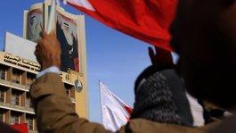 Demonstration vor der Botschaft von Saudi-Arabien in Manama; Foto: AP/dapd