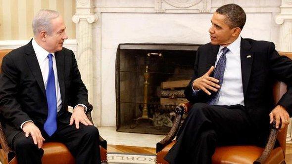 US-Präsident Barack Obama beim Treffen mit dem israelischen Premierminister Benjamin Netanjahu im Weißen Haus, Montag, 05. März 2012; Foto: AP/dapd