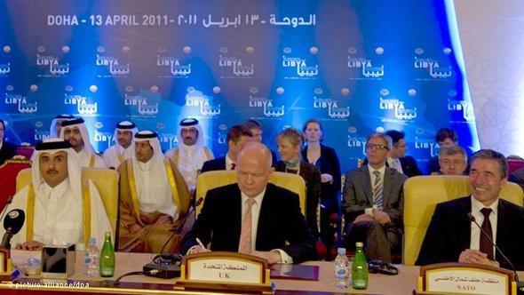 Treffen der Kontaktgruppe im Konfliktfall Libyen in Doha; Foto: dpa