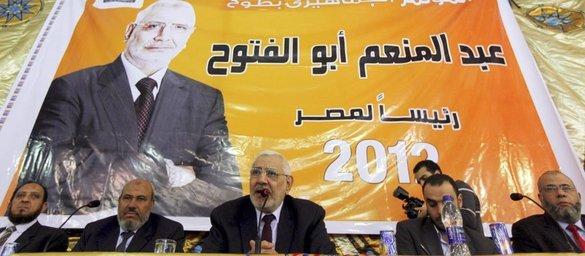 Abdel Moneim Aboul Fotouh während einer Wahlveranstaltung der Muslimbruderschaft in Kairo; Foto: Reuters