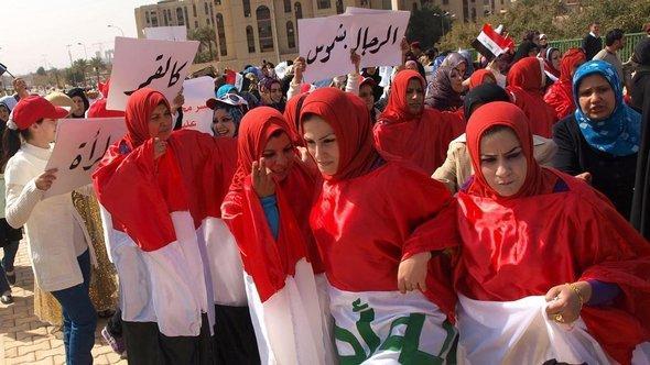 Irakische Frauen wollen mehr Beteiligung an das politische und gesellschaftliche Leben; Foto: DW/Karlos Zurutuza