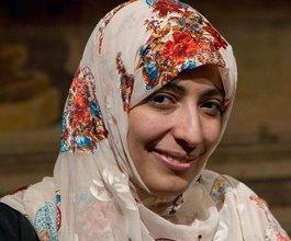 Die jemenitische Friedensnobelpreisträgerin Tawakkul Karman; Foto: Andrew Medichini/AP/dapd