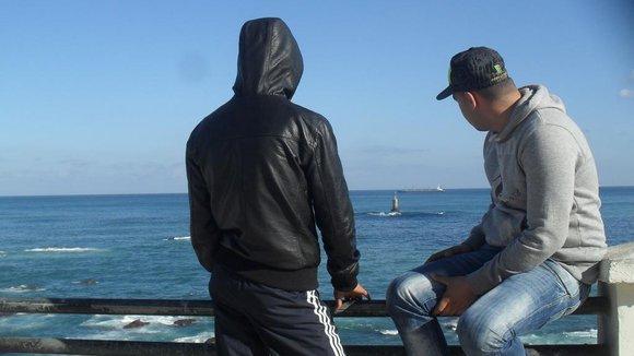 Jugendliche im algerischen Bab El Wed; Foto: Bouadma Ratiba