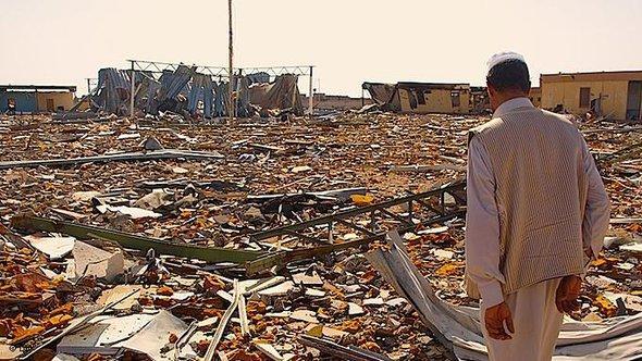 Zerstörter Uni-Campus in Bani Walid; Foto: DW