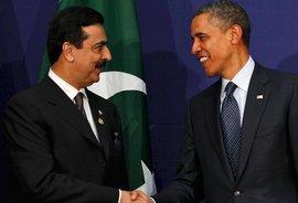 Pakistans Regierungschef Yousuf Raza Gilani (links) mit US-Präsident Obama; Foto: Reuters