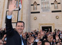 President Bashar al-Assad (photo: AP Photo/SANA)