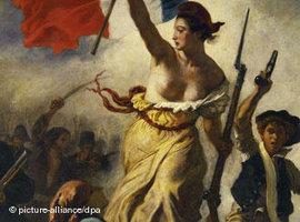 Ausschnitt aus Eugene Delacroix: Die Freiheit führt das Volk, Julirevolution 1830; Foto: dpa/picture-alliance