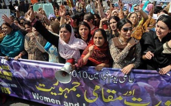 Frauenrechtsdemonstration in Islamabad; Foto: dpa