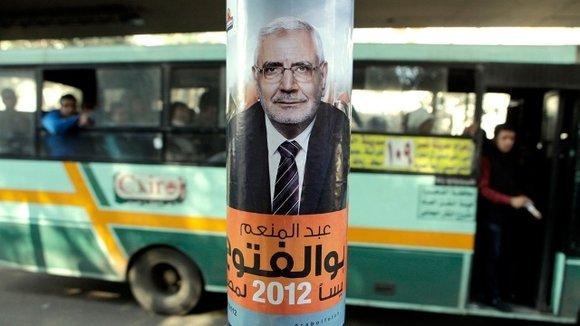 Wahlplakat Abdel Moneim Aboul Fotouhs in Kairo; Foto: dapd