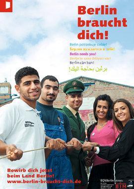 Werbeplakat der Initiative Berlin braucht dich