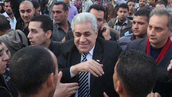 Hamdeen Sabahi bei einer Wahlkampfveranstaltung in Kairo; Foto: Reuters