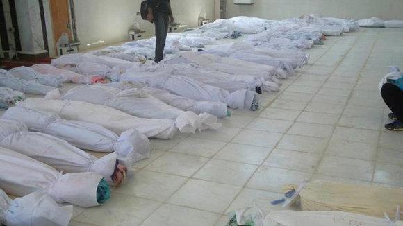 Opfer des Massakers von Hula; Foto: Reuters
