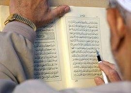 Mann liest im Koran; Foto: dpa