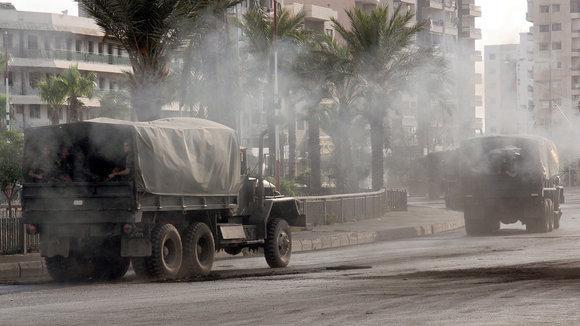 Straßenkämpfe in Tripoli, Nordlibanon am 13.05.2012; Foto: picture alliance/dpa