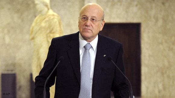 Libanons Ministerpräsident Mikati; Foto: AP/dapd