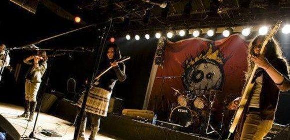 Die Band Massive Scar Era während eines Konzerts in Ägypten; Foto: © Mascara
