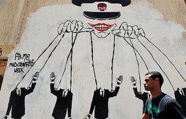 Die Armee als Strippenzieher hinter den politischen Kulissen - Graffiti-Kunst in Kairo; Foto: Reuters