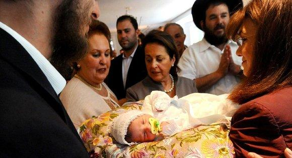 Celebration after a Jewish circumcision ceremony in San Francisco (photo: AP)