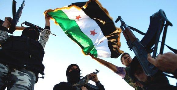 Einheiten der Freien Syrischen Armeein Idlib; Foto: AP/dapd