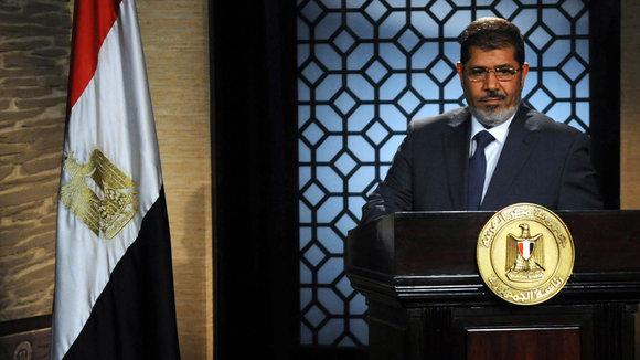 TV-Ansprache Mohamed Mursis nach seinem Wahlsieg; Foto: Reuters