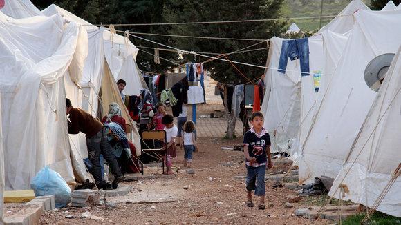 Flüchtlingslager im türkischen Reyhanli, Foto: AP/dapd
