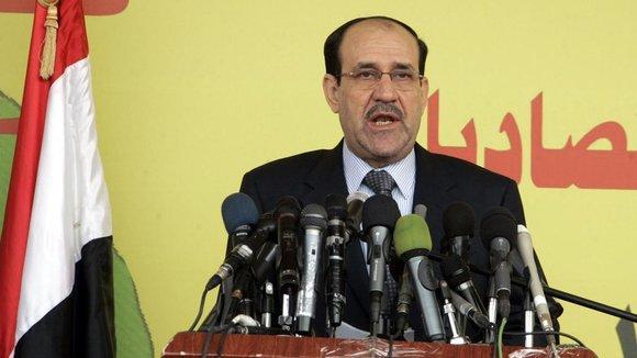 Der irakische Regierungschef Nuri al-Maliki ; Foto: dpa