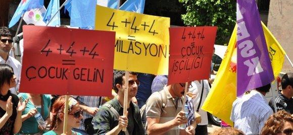 Demonstration in Ankara gegen die geplante Schulreform; Foto: © Eğitim-Sen