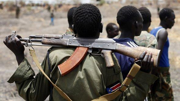 Kämpfer der Sudan People's Liberation Army (SPLA); Foto: Reuters