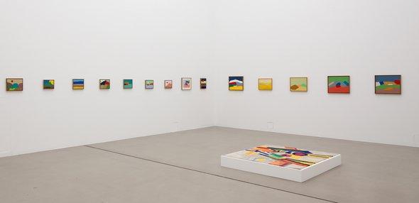 Raum mit Werken von Etel Adnan auf der Documenta (13); Foto: Anders Sune Berg