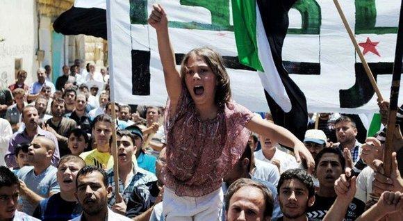 Demonstration in Idlib im Juni 2012; Foto: dpad