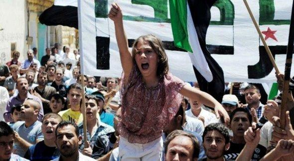 Demonstration in Idlib in June 2012 (photo: dapd)