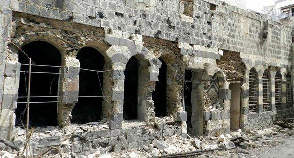 Zerstörtes Haus in der Altstadt von Homs; Foto: AP
