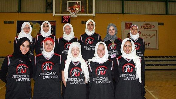 Das Basketballteam der Jeddah United Sports Company; Foto: picture-alliance/dpa
