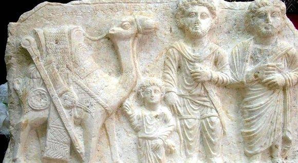 Kalksteinrelief aus dem 2. Jhd, Palmyra; Foto: AP