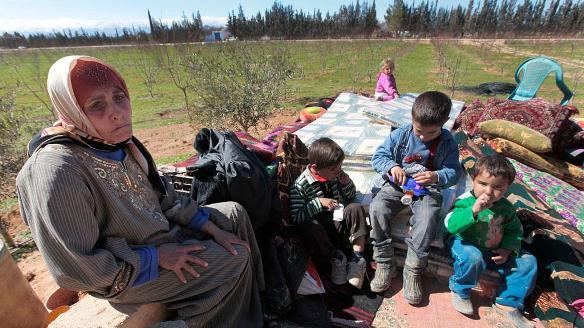 Syrische Flüchtlinge im Libanon; Foto: dapd