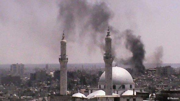 Blick auf die zertsörte Stadt Homs; Foto: Reuters