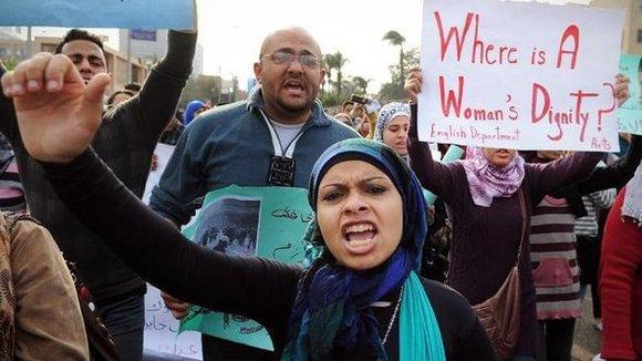 Demonstration gegen Polizeigewalt in Kairo; Foto: dapd