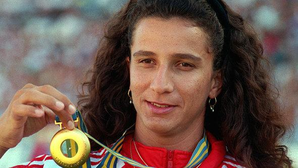 Die syrische Sportlerin Ghada Shouaa,Foto: picture-alliance/dpa