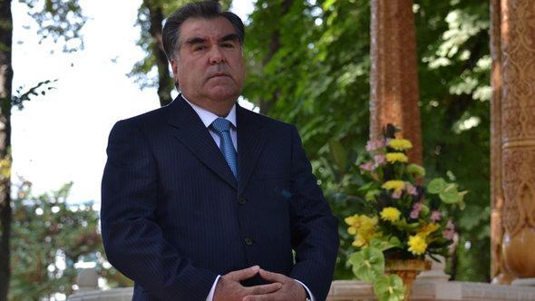 Der tadschikische Präsident Rachmonow, Foto: DW/Galim Faskhutdinov