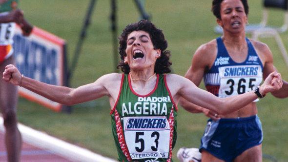 Hassiba Boulmerka bei der Leichtathletik-WM 1995; Foto: picture-alliance/dpa/epa